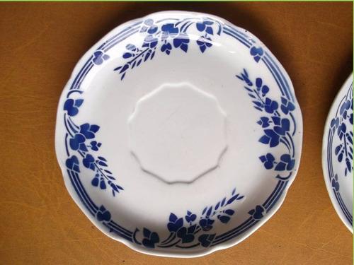 platos postre, 6- porcelana francesa badonviller- vajilla