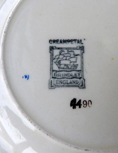platos postre torta creampetal grindley england sexteto