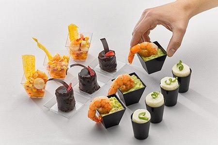 platos shot cuadrado acrilico sushi vaso fiesta restorante