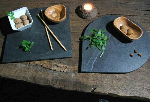 platos vajilla en piedra pizarra para servir-incluye envio!