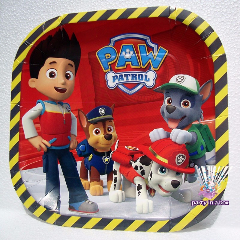 Mantel para fiesta paw patrol