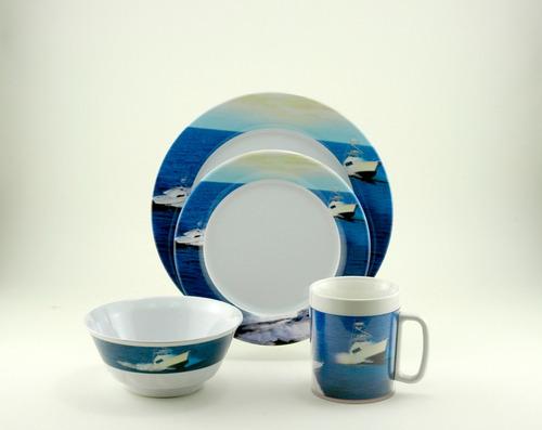 platos vasos vajilla lanchas barcos nautica accesorios nauti