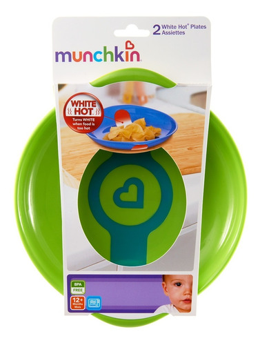 platos x2 con banda indicadora de calor munchkin