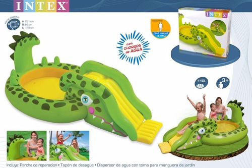 play center centro juegos inflable intex pileta cocodrilo