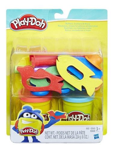 play-doh - conjunto rolos, cortadores e mais - hasbro