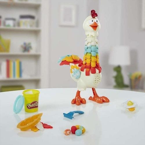 play-doh masa gallina plumas divertidas e6647 hasbro edu