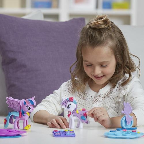 play-doh mlp twilight sparkle y rarity moda divertida (4269)