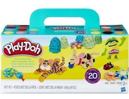 play doh pack 20 colores originales potes / diverti