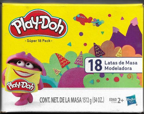 play-doh súper pack de 18 masas 84grs por bote surtidos ofer