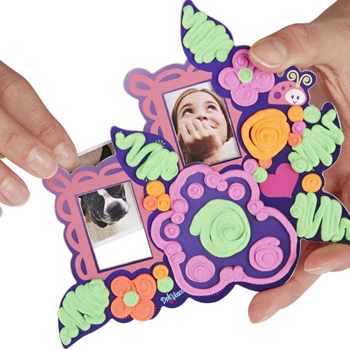 play-doh toy  doh vinci flor torre picture frame kit pla