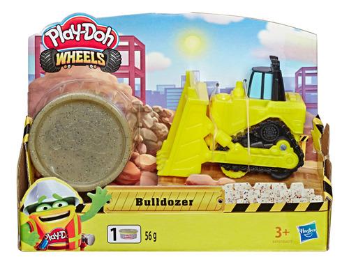 play-doh wheels - bulldozer pequeño de con 1 lata de masa