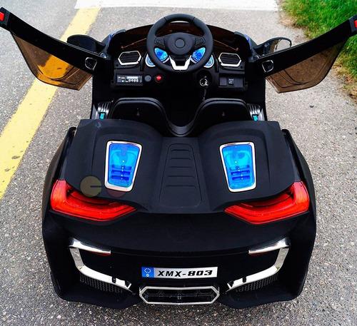play go carro a bateria bmw i8 12v usb luz led control remot
