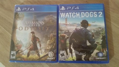 play s 4 assassins creed odyssey $39.99 y watch dogs 2 $25