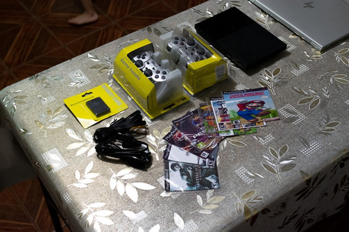 play station 2 slim, mandos, 7 juegos, emulador nintendo