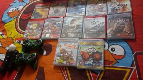 play station 3 super slim 500gb +accesorios y 12 juegos