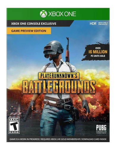 player unknowns battlegrouns pubg xbox one código digital
