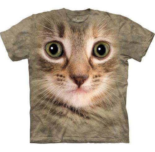 playera 4d - unisex infantiles -  3353 kitten face.