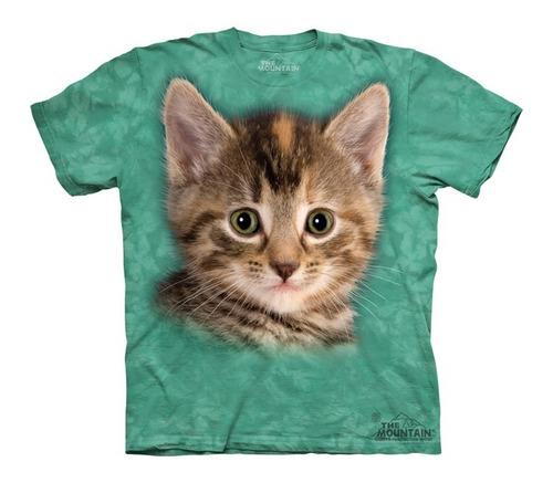 playera 4d - unisex infantiles -   8186 striped kitten.