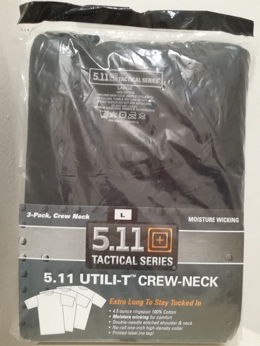 playera 5.11 original,utili-t crew paquete c/3 playeras