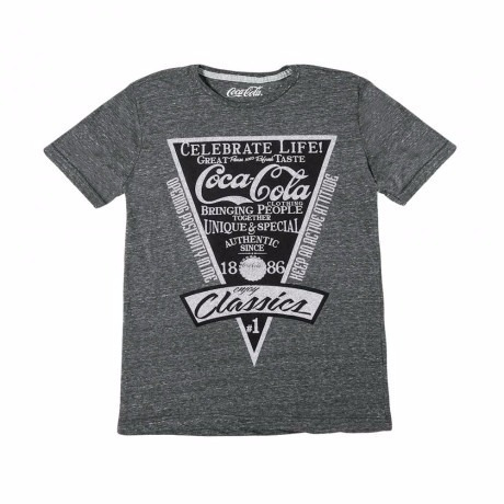 playera 69568 gris jaspe coca cola hombre