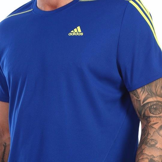 venta caliente barato compras calidad superior Playera adidas Azul Neón Deporte Entrenamiento Cvm453 Cal461