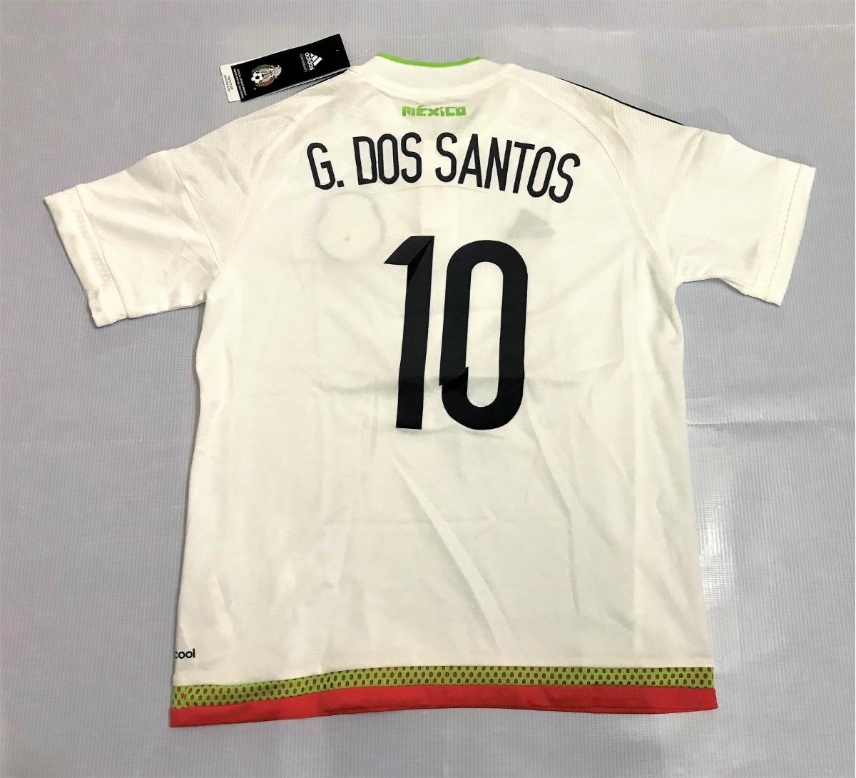 playera adidas de mexico blanca giovani dos santos para niño. Cargando zoom. 11c9a99f2c19b