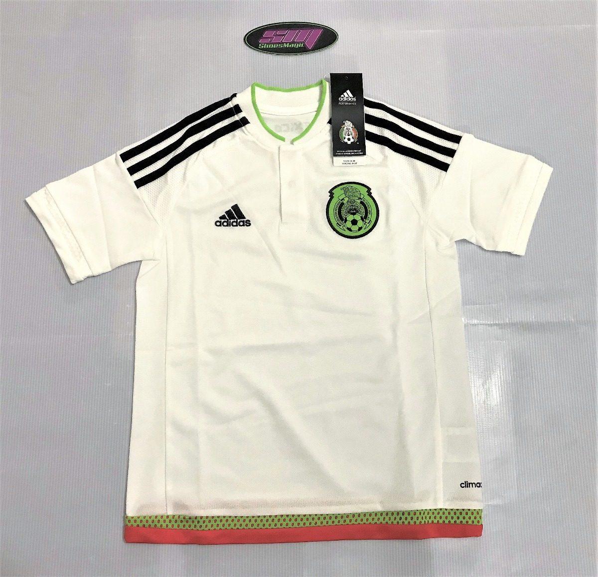 cf58efcf0f9f6 Playera adidas De Mexico Blanca Para Niño -   399.00 en Mercado Libre