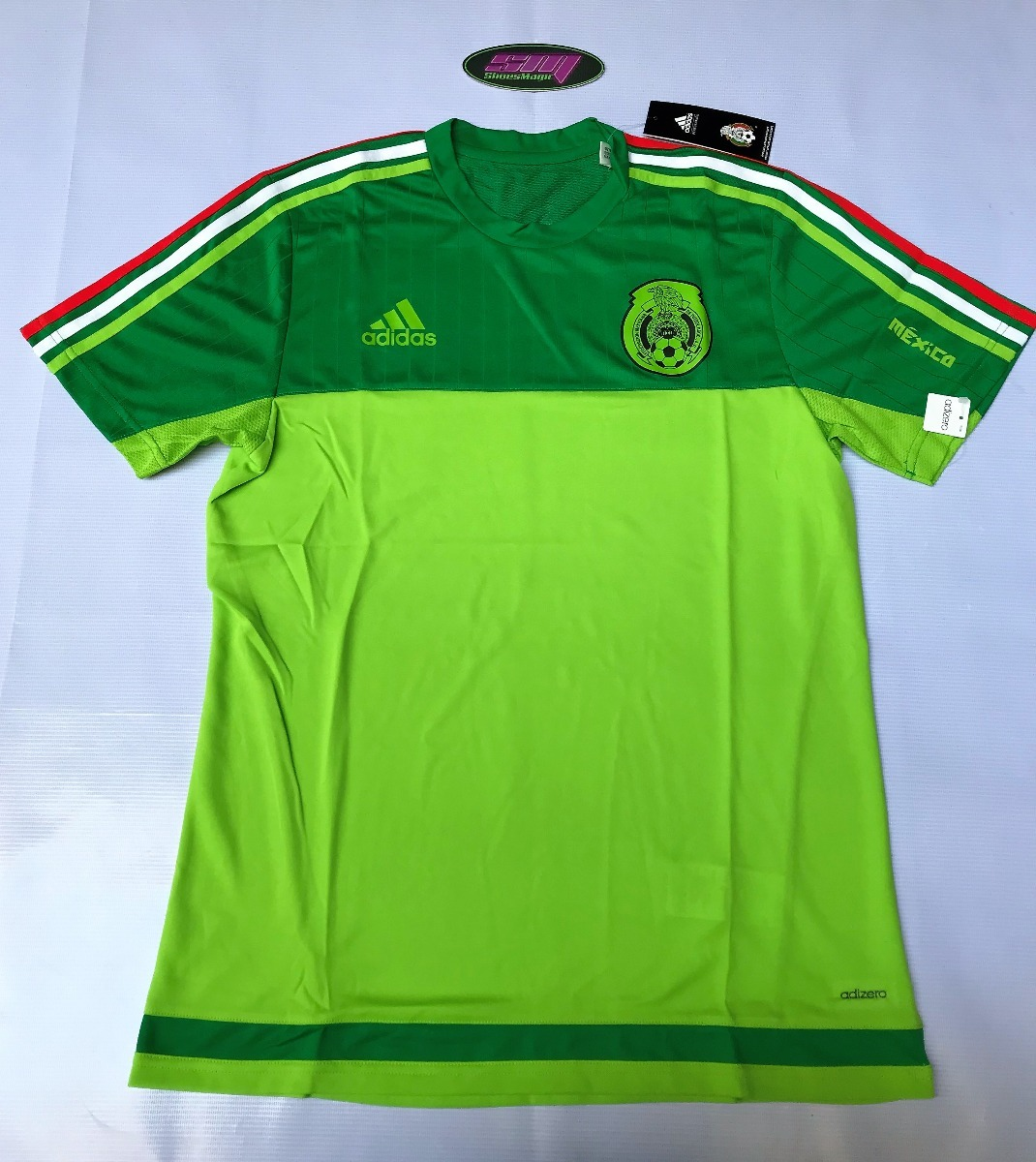 Playera adidas De Mexico Entrenamiento -   449.00 en Mercado Libre 1cc7328041600