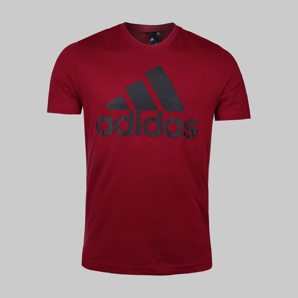 22ca2641b3d77 playera adidas ess linear tee para hombre color rojo 1417371. Cargando zoom.