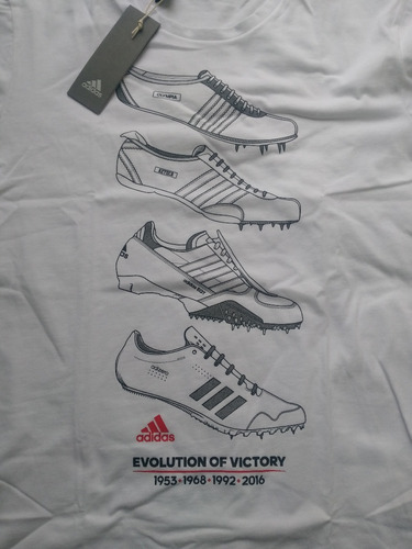 playera adidas talla mediana nueva evolution of victory
