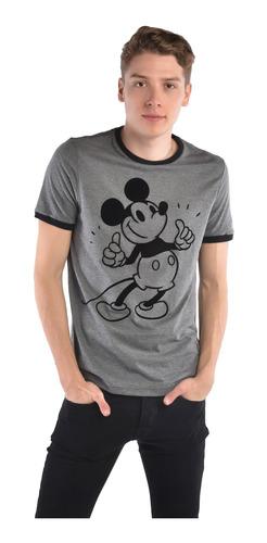 playera american level mickey mouse gris unisex