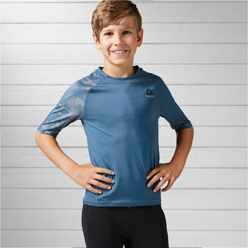playera atletica essentials tech niño reebok full bk4442
