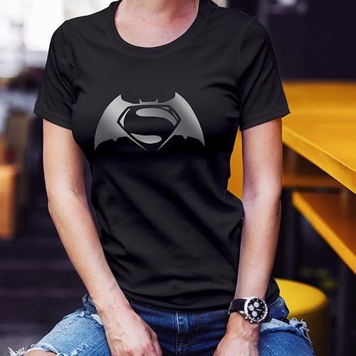 playera batman v superman dc comics mujer