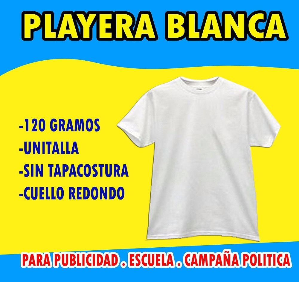 15751601556d0 Playera Blanca 100% Poliester Para Campañas Politicas -   35.00 en ...