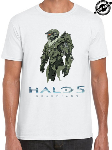 playera blanca con sublimado de master chief halo 5