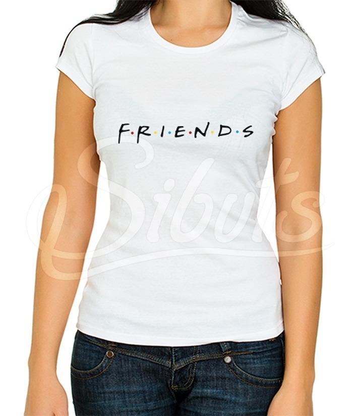 30a58f19a1735 Playera Blanca Mujer Serie Tv Friends -   179.00 en Mercado Libre