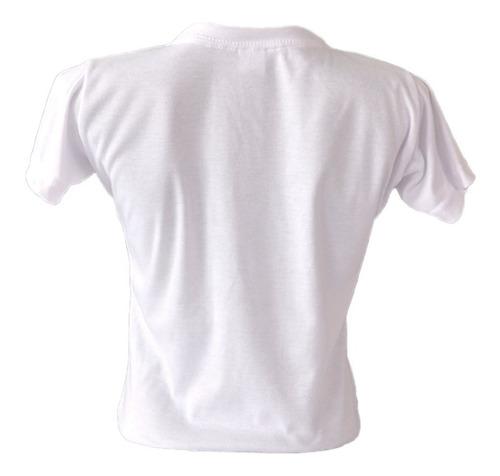 playera blanca p/sublimación tacto algodón cuello redondo