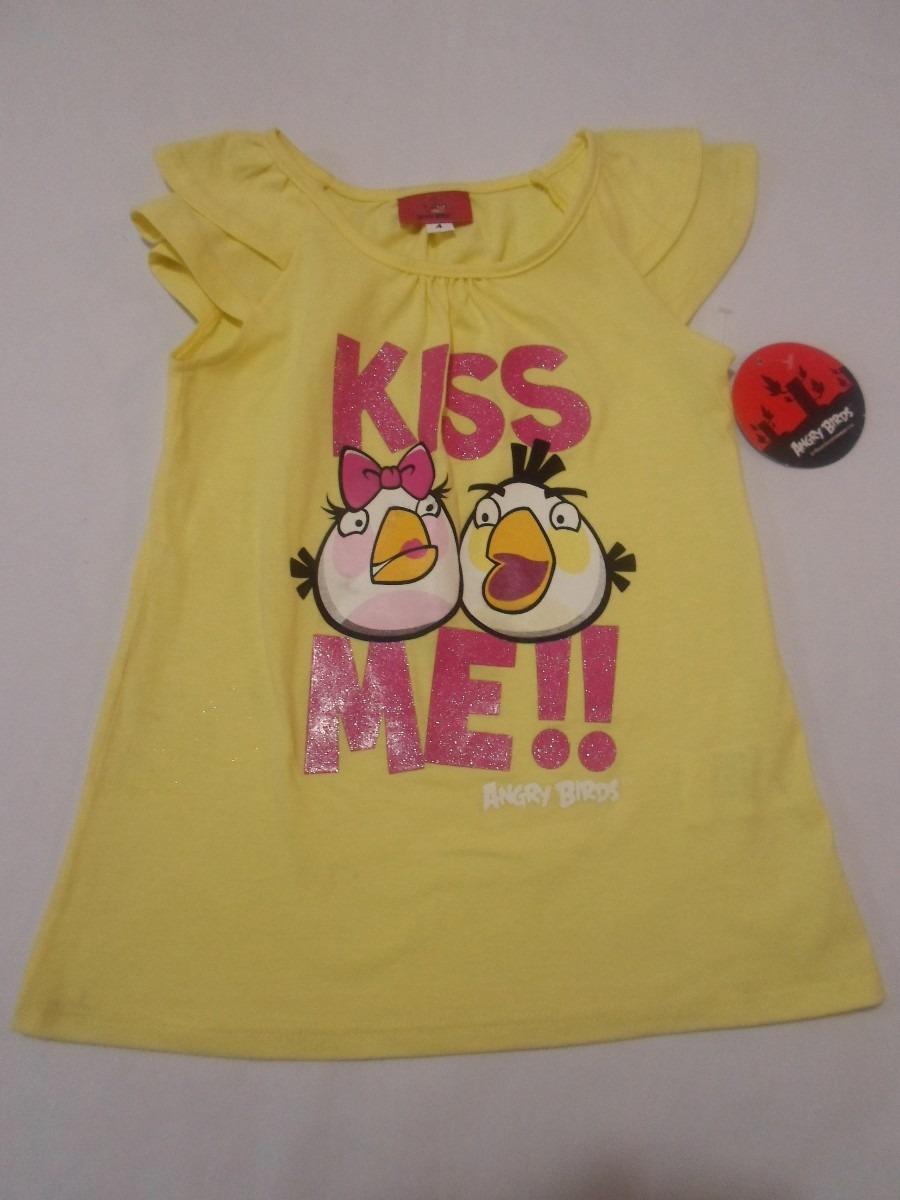 Para Blusa 95 Hm474 En Amarilla Playera 4 Niña Angry Birds Años nP0wOk
