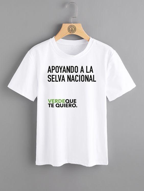 Playera Caballero Algodón Verde Que Te Quiero Cuello Redondo ... 276fd87583c6d