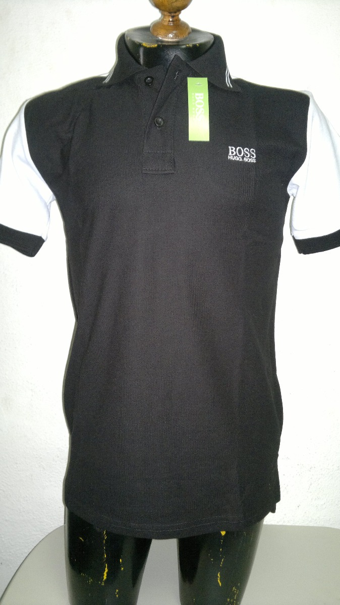 playera camisa tipo polo hugo boss color negro con blanco. Cargando zoom. b0c8c76174f85