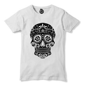 15dba545f Playera Camiseta Calavera Mexicana Negra Dulce Envio Gratis
