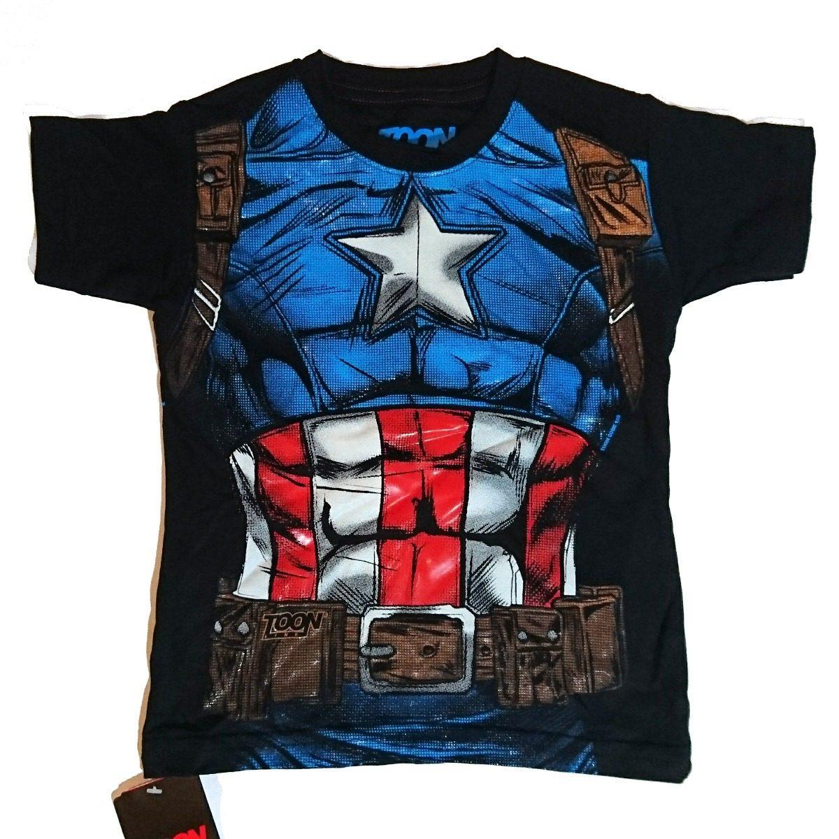 Playera Capitán América Niño Marvel Comics -   219.00 en Mercado Libre e2a03a683d5d3