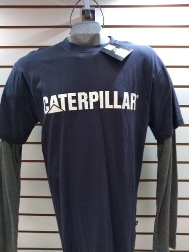 playera caterpillar larga
