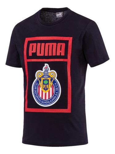 playera chivas - puma - 753705 03 - azul hombre