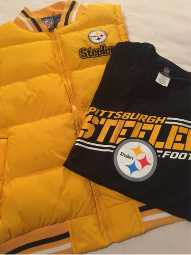 playera con chaleco pittsburgh steelers acereros talla g