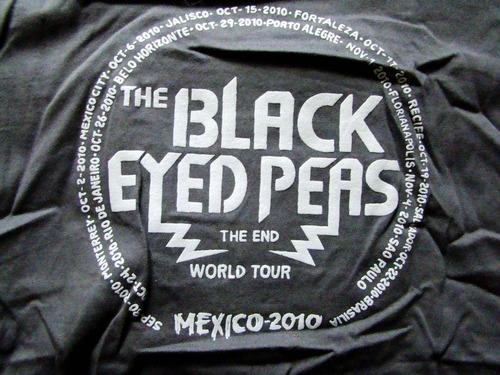 playera concierto black eyed peas tour 2010 bordada!!