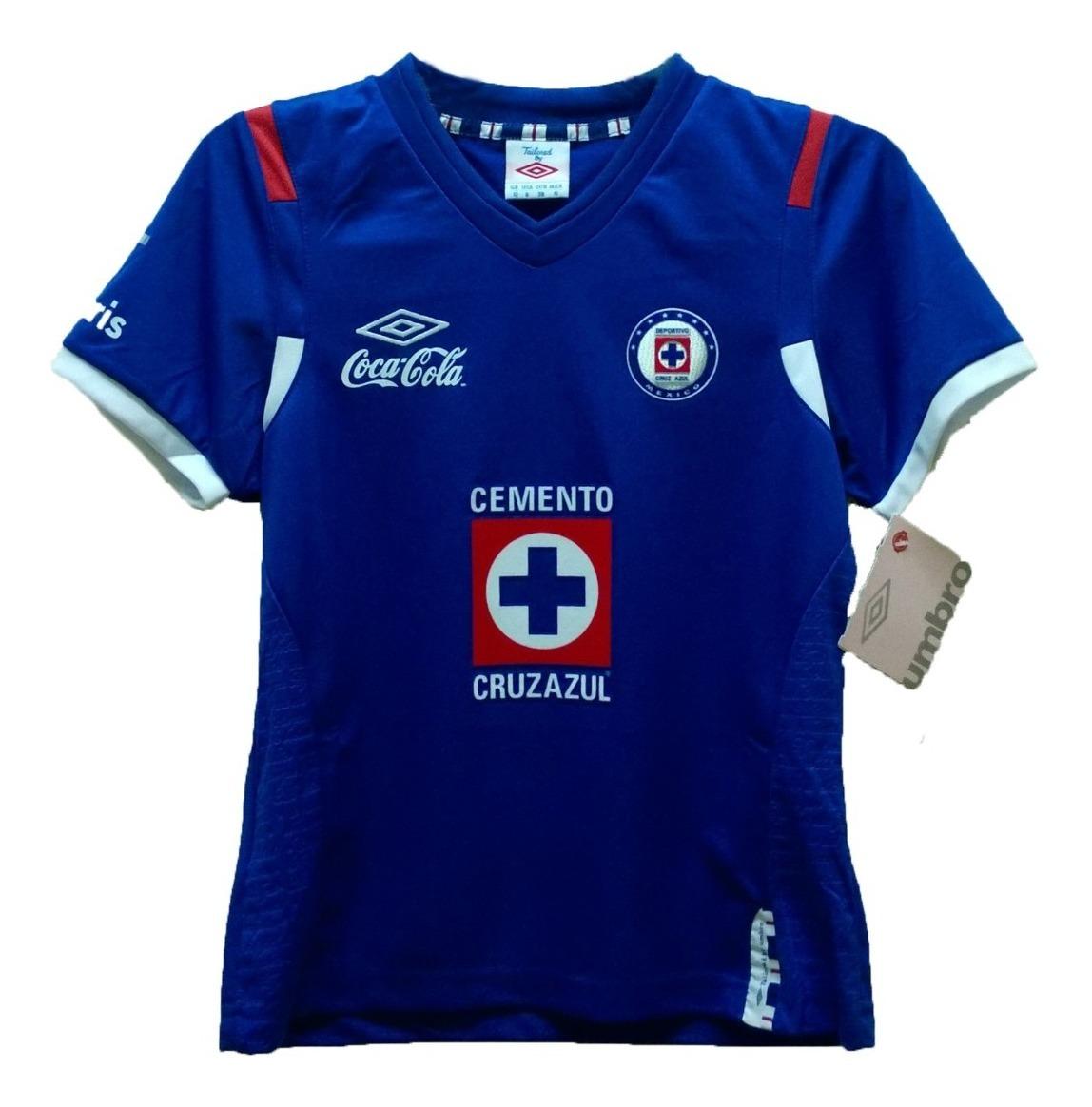 Playera Cruz Azul Niña Original Umbro 2010-2011 - $ 320.00 ...