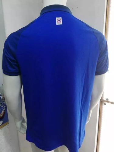 playera cruz azul polo 2019-2020 original azul
