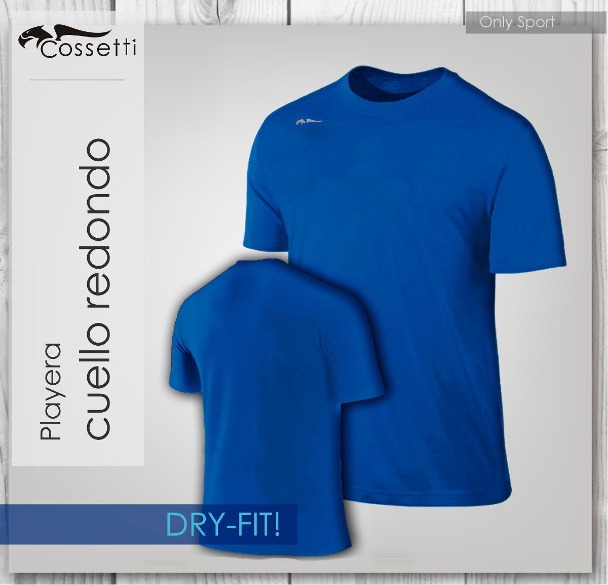 playera cuello redondo en original dry-fit! alta confección. Cargando zoom. 334c2c7408245