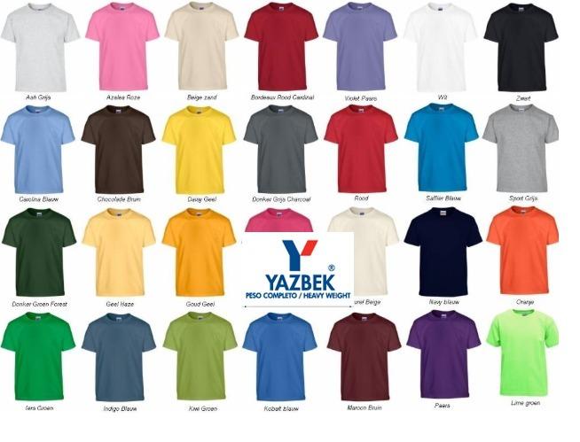 871ceda9cb285 Playera Cuello Redondo Yazbek!! +15 Colores Disponibles Neón ...